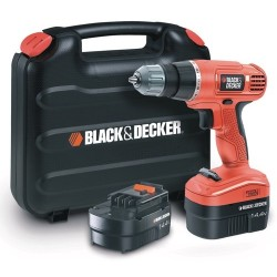BLACK DECKER DRILL C/2 BATTERIES 14V. MOD.EPC14CABK