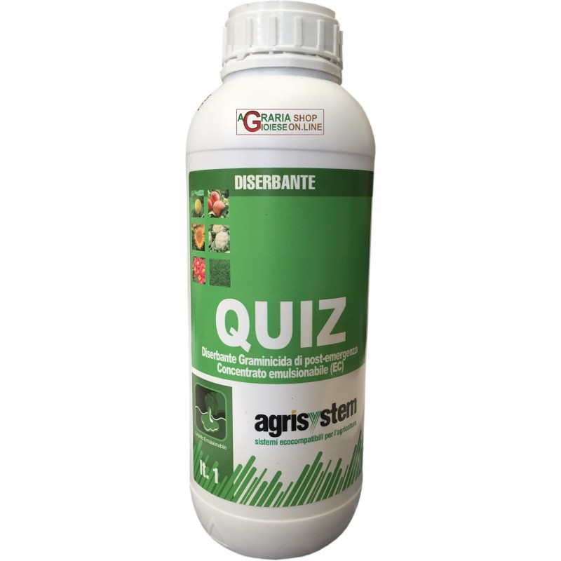 AGRISYSTEM QUIZ HERBICIDE SELECTIVELY ON A BASIS OF QUIZALOFOP