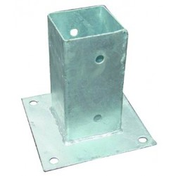 BLINKY BASE FOR POLES IN THE GALVANIZED STEEL CM.7X7X15H