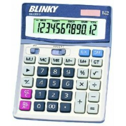 BLINKY SOLAR POWER CALCULATOR KEYS AND LARGE DISPLAY