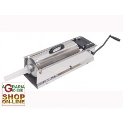 LEONARDI FILLER FOR MEATS STAINLESS STEEL JUMBO 2-SPEED, 10 KG