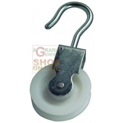 BLINKY PULLEY ZINC-PLATED STEEL NUT NYLON DIAMETER MM 30