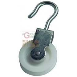 BLINKY PULLEY ZINC-PLATED STEEL NUT NYLON DIAMETER MM 40