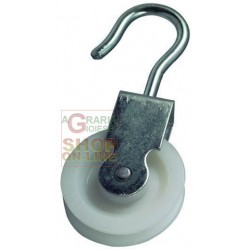 BLINKY PULLEY ZINC-PLATED STEEL NUT NYLON DIAMETER MM. 50