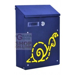 BLINKY BOX FOR LETTERS, SNAIL, STEEL, BLACK, CM. 21X8,5X30H