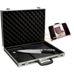 WUSTHOF BRIEFCASE WITH MAGNETIC KNIFE RACK IN ALUMINIUM CM