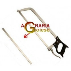 REPLACEMENT BLADE FOR SAW BUTCHER, STAINLESS STEEL WITH HOLE