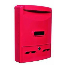 BLINKY MAILBOX IN ALUMINUM EURO-MAXI 29X10X39H RED