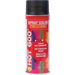 BOMBOLETTA SPRAY ALTA TEMPERATURA 600 GRADI HOT NERO LUCIDO ML.