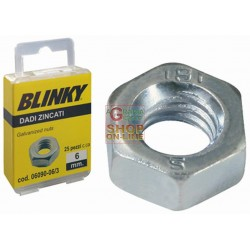 BLINKY-STEEL NUTS, ZINC PLATED BLISTER MM. 6