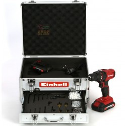 Einhell Trapano con 2 batterie 18 volt litio 1,3ah TC-CD 18-2