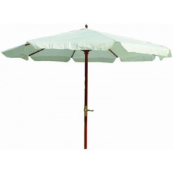 BLINKY BEACH UMBRELLAS WOOD-25 WHITE