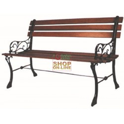 BLINKY BENCH CAST IRON WOOD PB8 WITH BACKREST BLACK 96940-10/5