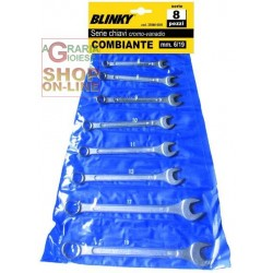 BLINKY SERIES OF COMBINATION WRENCHES PCS. 8 CROMOVANADIO MM.