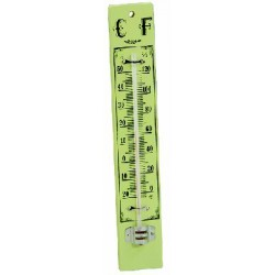 BLINKY THERMOMETER WALL WOOD BASE CM.22X4.3