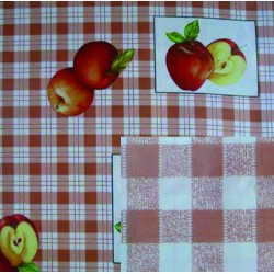 BLINKY TABLECLOTH, DOUBLE-FACE RED APPLES MT. 1,4 X 30