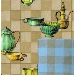 BLINKY TABLECLOTH, DOUBLE-FACE VINTAGE MUGS MT. 1,4 X 30
