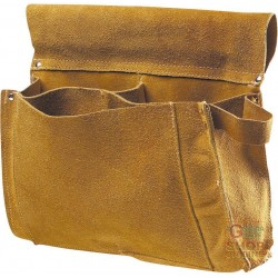 BORSA CARPENTIERE IN CROSTA 3 TASCHE COLORE GIALLO