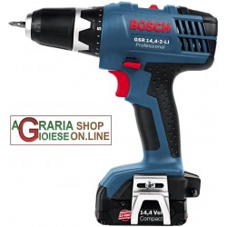 BOSCH DRILL DRIVER GSR 14,4 V-2 LITHIUM BATTERIES 1.3 AH