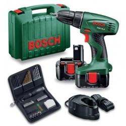 BOSCH DRILL DRIVER PSR 14.4 V WITH 2 BATTERIES 1.2 AH