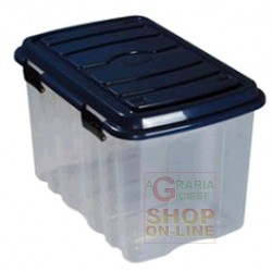 BOX PLASTIC WITH LID AND LT WHEELS. 54