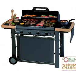 CAMPINGAZ GAS BARBECUE ADELAIDE 4 CLASSIC KW. 21 WITH A STOVE