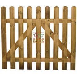 WOODEN GATE FOR A FENCE SUNFLOWER CM.100X80H