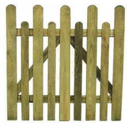 WOODEN GATE FOR FENCE MOD. ENGLISH CM. 100X100
