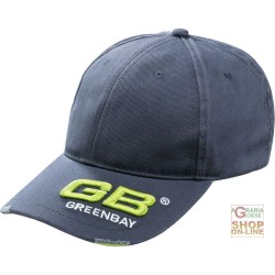 CAP 100% COTTON VISOR LOGO GB GREY COLOUR