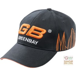 CAP 100% COTTON VISOR LOGO GB BLACK COLOR