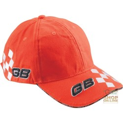 CAP 100% COTTON VISOR LOGO GB TINC RACE, COLOR ORANGE