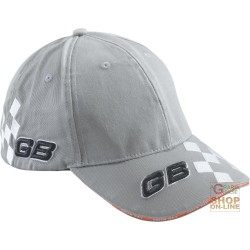 CAP 100% COTTON VISOR LOGO GB TINC RACE, COLOR GRAY