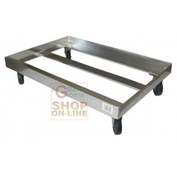 FOUR-WHEELED CART RACK SURFACE CM. 66 x 45