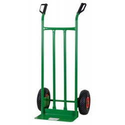 CART FOLDING CRATE HOLDER WITH TWO PNEUMATIC WHEELS, KG. 200