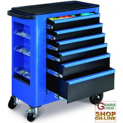 TOOL TROLLEY, 6 DRAWERS