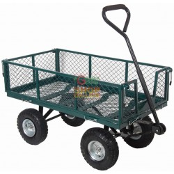 CART UTILITY CART WITH RAILS AND HANDLEBARS FOUR WHEELS KG. 150