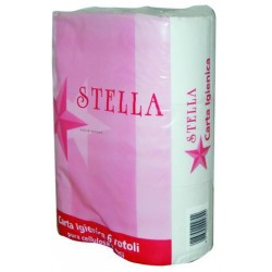 TISSUE PAPER STAR-PURE CELLULOSE 2-PLY STD. 6 ROLLS
