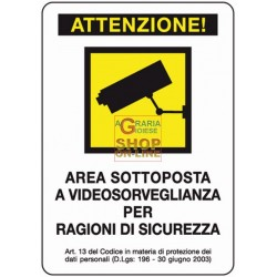 SIGN SIGNAL VIDEO SURVEILLANCE MM. 300X200