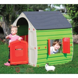Playhouse for children in thermoplastic resin cm. 102x90x109h