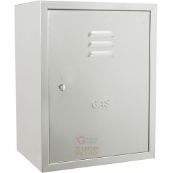 THE BOX FOR GAS METER IN GALVANISED SHEET METAL, CM. 35 X 25 X