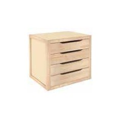 CHEST OF DRAWERS IN WOOD WITH 4 DRAWERS CM. 39X30X37,5 H.