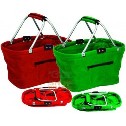 BASKET SHOPPING FOLDING NYLON BAGGY BAG CM. 47X28X24