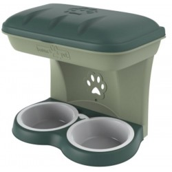 Dog bowl Bama Food Stand green color kit to hang on the wall