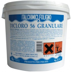CHLORINE POWDER FOR SWIMMING POOLS KG.25