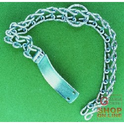 COLLAR FOR DOGS WITH THE LADDER IN GALVANIZED IRON MEDIUM TYPE