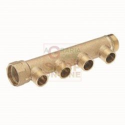 MANIFOLD LINEAR MALE 1 4-WAY 3/4 IN. X 18 INNER: 50 MM.