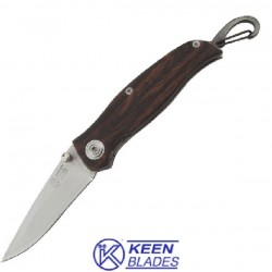 FOLDING KNIFE WOOD HANDLE AND HOOK KBL 26568