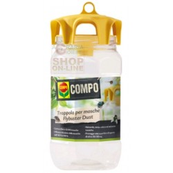 COMPO Flybuster Dust TRAP CATCHES FLIES TO the OUTSIDE WITH a