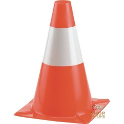 THE CONE OF TRAFFIC, H 30 CM, PLASTIC BASE ORANGE COLOR WHITE