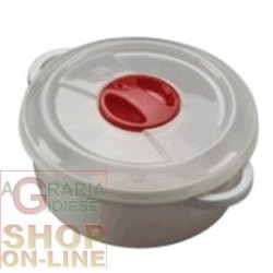 PLASTIC CONTAINER FOR MICROWAVE WITH VALVE LT. 1